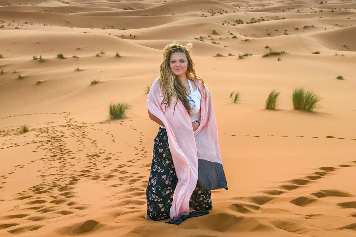 Grace Scanlon in the Sahara