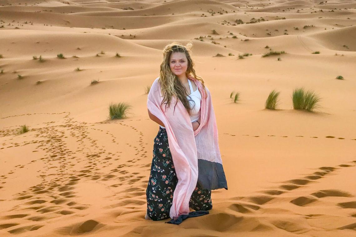 Grace Scanlon in the Sahara
