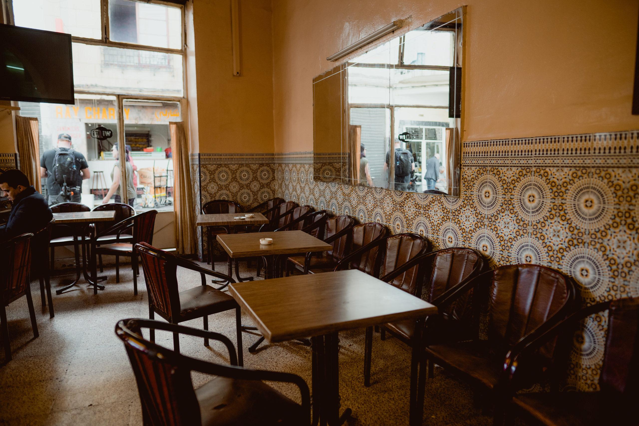 The inside of Café Tingis.